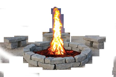 Large Fire Pit 3 Pc Bench Kits